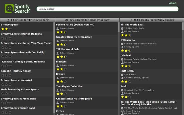 Spotify Search Plus