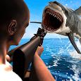 Underwater Angry Shark Hunting