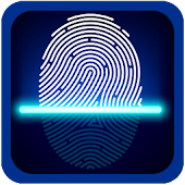 Fingerprint app Lock simulated