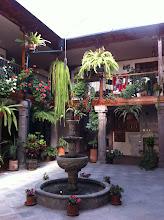 Photo: Courtyard, Hotel San Francisco, Quito.