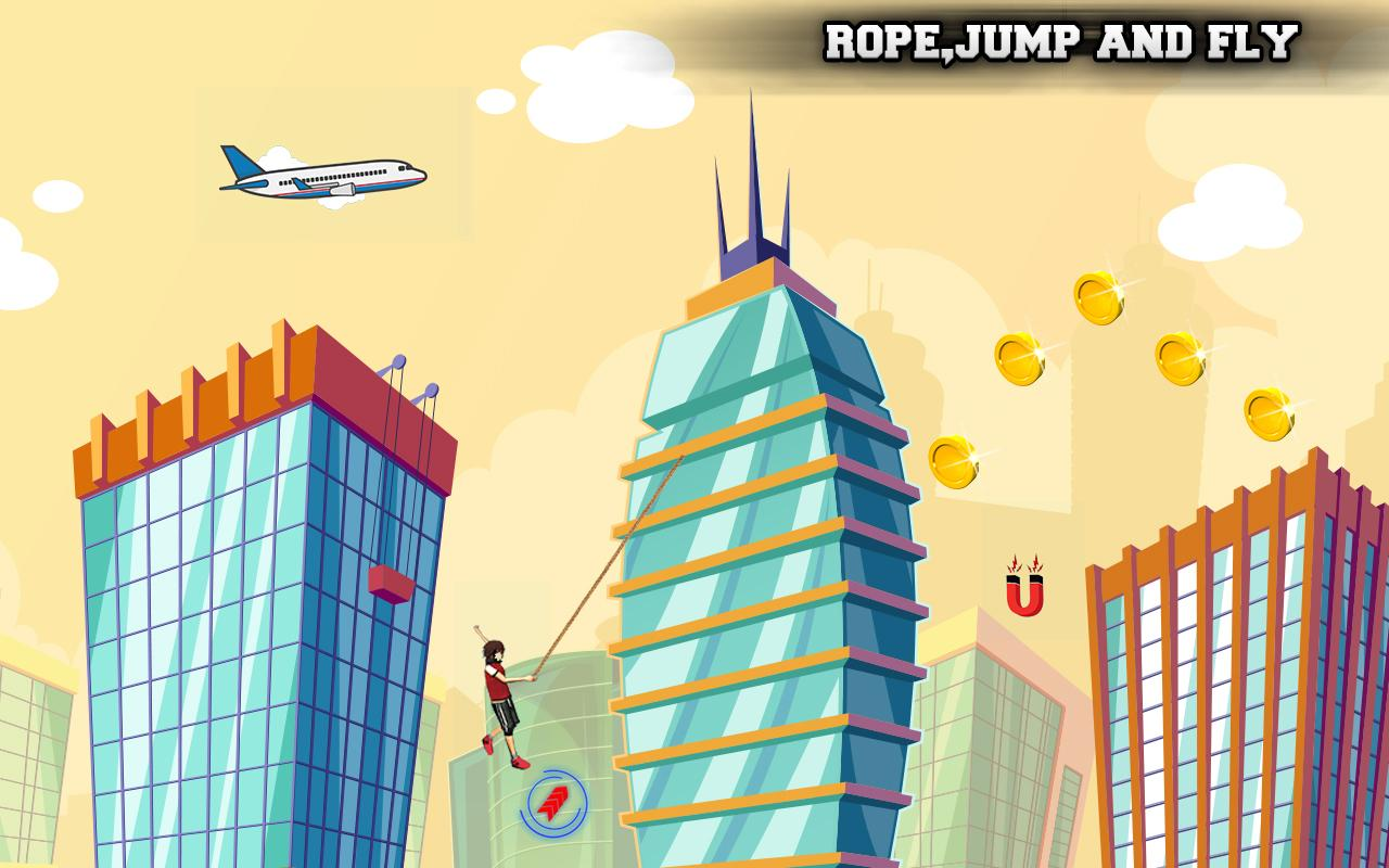 Flying Rope Guy- screenshot