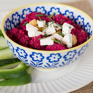 Beetroot Hummus And Hummus Soup