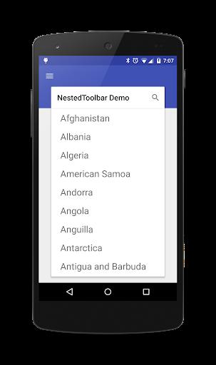 NestedToolbar Demo