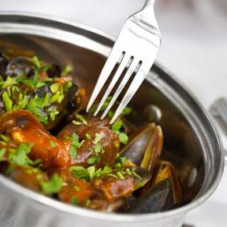 Spanish Mussels with Chorizo and Cava.