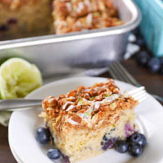 Gluten Free Blueberry Lime Coffee Cake.
