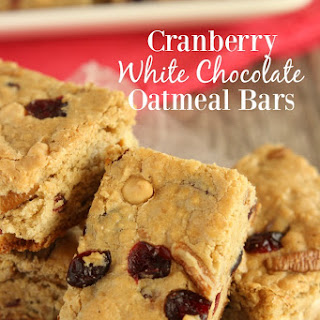 Cranberry White Chocolate Oatmeal Bars