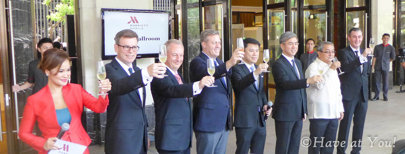 Marriott Hotel ribbon cutting toast