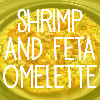 Shrimp and Feta Omelette