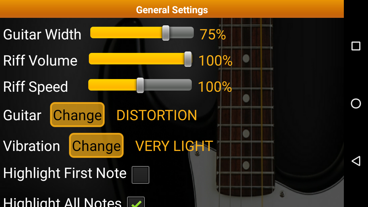 guitar riff pro android apps on google play. Black Bedroom Furniture Sets. Home Design Ideas