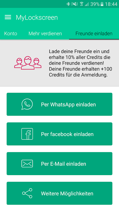mylockscreen - geld verdienen! - android apps on google play, Einladung