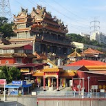 gorgeous temples along the tamsui river in Taipei in Taipei, T'ai-pei county, Taiwan