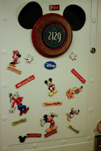 Photo: We decorated our #cruiseship door with #Disney magnets so the kids could find our stateroom in the long halls.