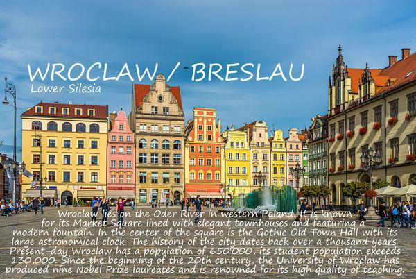 1 - Strona tytułowa dla Wrocławia/Breslau z briefem w...