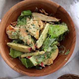Weight Watchers Grilled Chicken Salad with Green Goddess Dressing