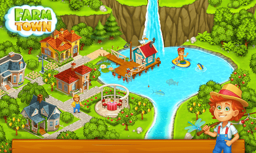 Farm Town: Happy village near small city and town 4