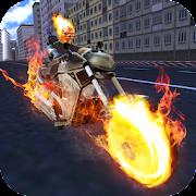 Fire Chain Ghost City Superhero Bike Rider