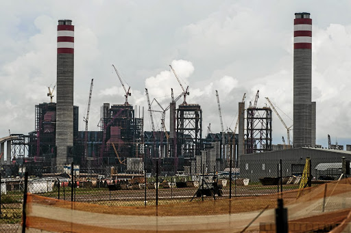 White elephant: Eskom's Kusile power station project in Mpumalanga. A new study has found that avoiding the completion of Kusile units 5 and 6 could result in a net financial saving of R15bn to R17bn. Sunday Times