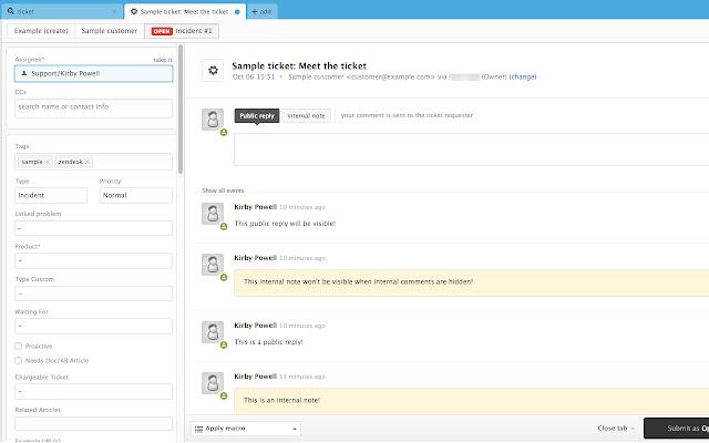 Hide Internal Zendesk Comments