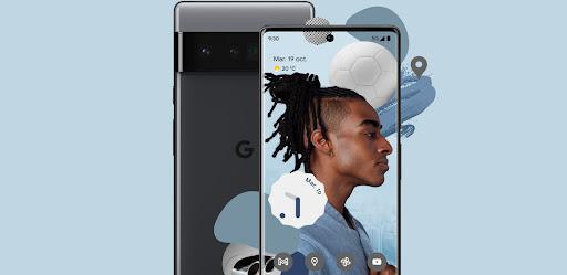 Nouveau Pixel6, avec son design élégant.