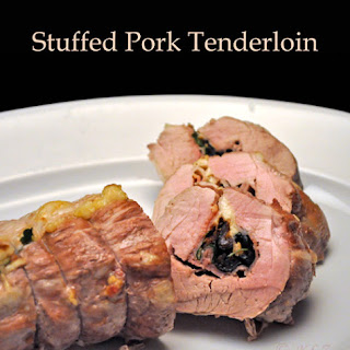 Parsley and Olive Stuffed Pork Tenderloin.