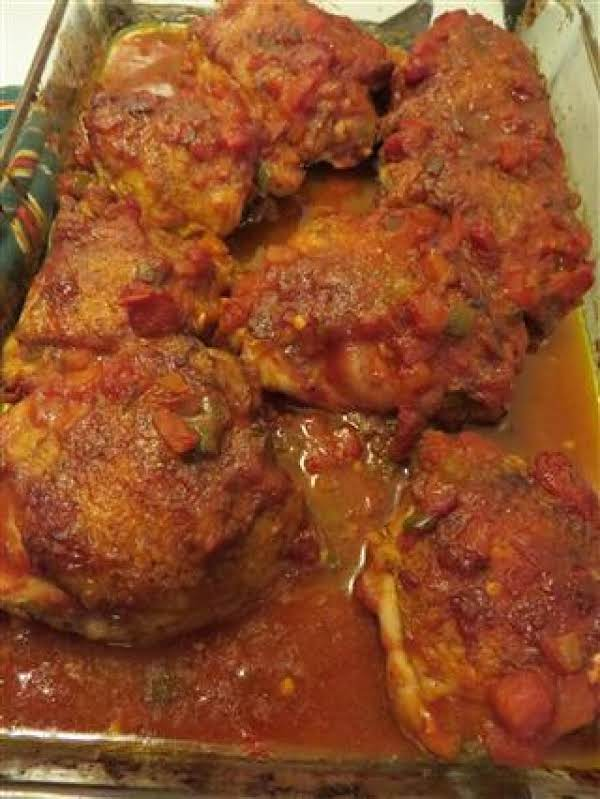 Looking For A New Chicken Thigh Recipe? Give This One A Try…. This Recipe Creates Very Moist Almost Fall Off The Bone Chicken That Is Full Of Flavor. Serve With Spanish Rice Or A Corn Salad And You Will Have A Fabulous Meal!