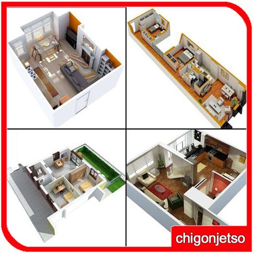 生活の3Dスモールハウスプランのアイデア LOGO-記事Game