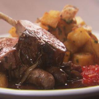 Rack of Lamb and Merguez Sausage.