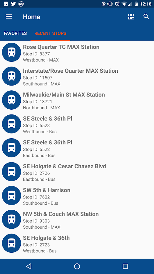 TriMet Go- screenshot
