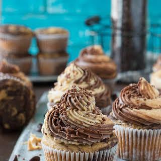 Chocolate Peanut Butter Cupcakes.
