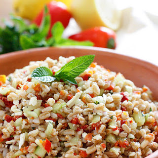 Farro with Feta Cucumbers and Sun-Dried Tomatoes Recipe