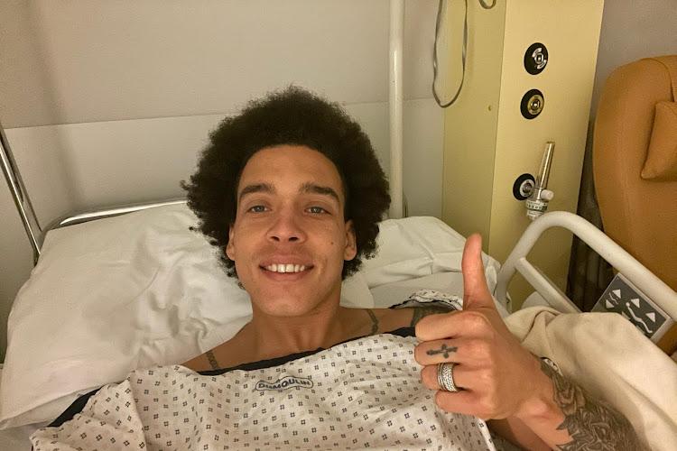 Witsel Axel  na zijn operatie