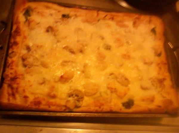 Semi-homemade Creamy Chicken Pizza