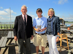 Photo: Freddie Smithers receives the Porte Trophy