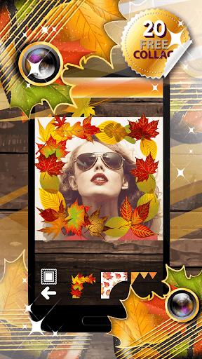 秋のコラージュ - フォトエディタ