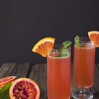 Blood Orange Bourbon Sparkler.