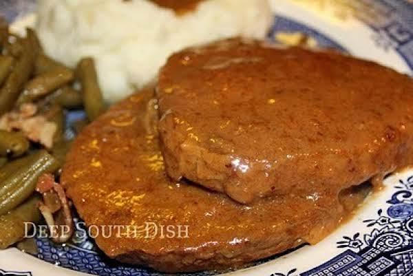 Crock Pot Round Steak & Gravy