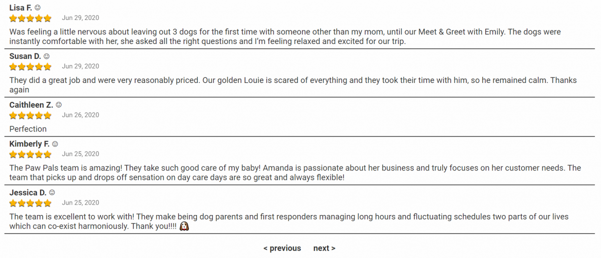 Pet Owner Customer Reviews for Reputation Management