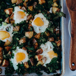 Breakfast Kale and Potato Sheet Pan.