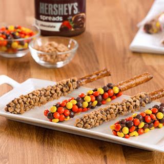 Chocolate & Candy Dipped Pretzel Rods