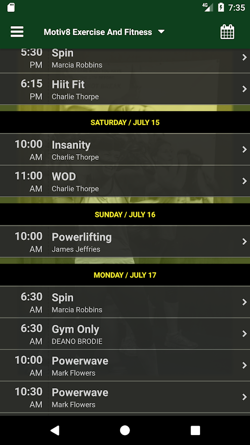 Motiv8 Exercise And Fitness- screenshot