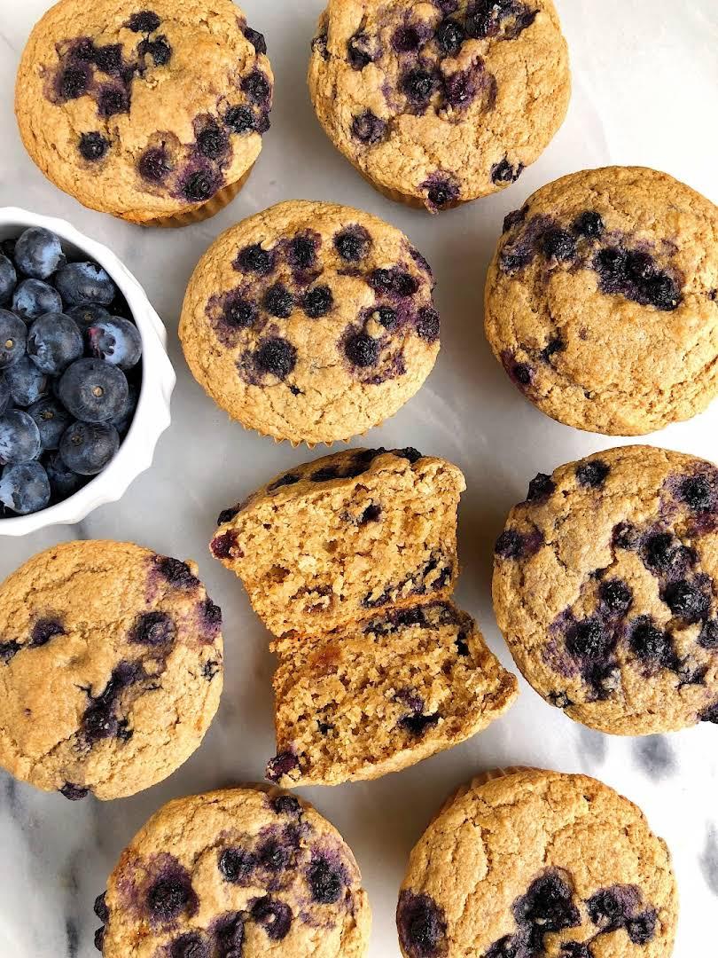 Gluten-free Bakery-Style Blueberry Muffins