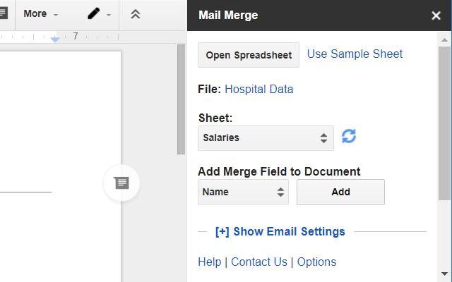 Mail Merge Google Docs Add On