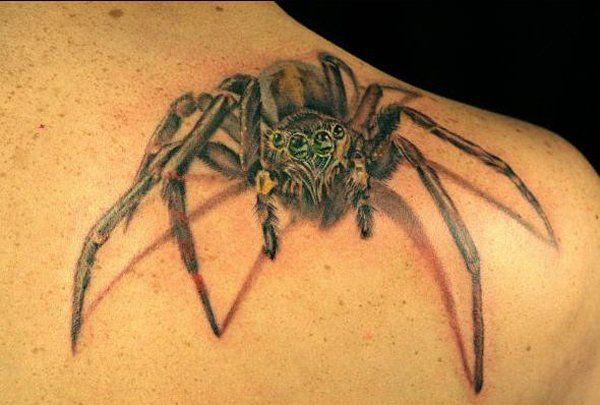 ลายสักแมงมุมผู้ชาย 09