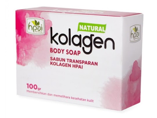 Sabun Kolagen HPAI NATURAL KOLAGEN BODY SOAP sabun Transparan membersihkan melembabkan kulit tubuh
