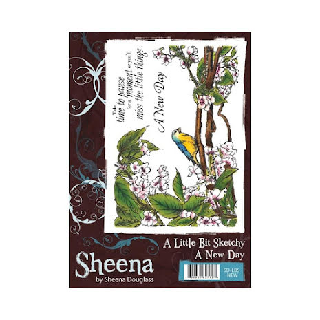 Sheena Douglass A Little Bit Sketchy A6 Stamp Set - A New Day UTGÅENDE