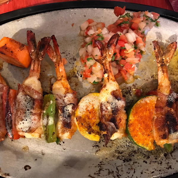 Shrimp Brochette- brings a smile to your face.