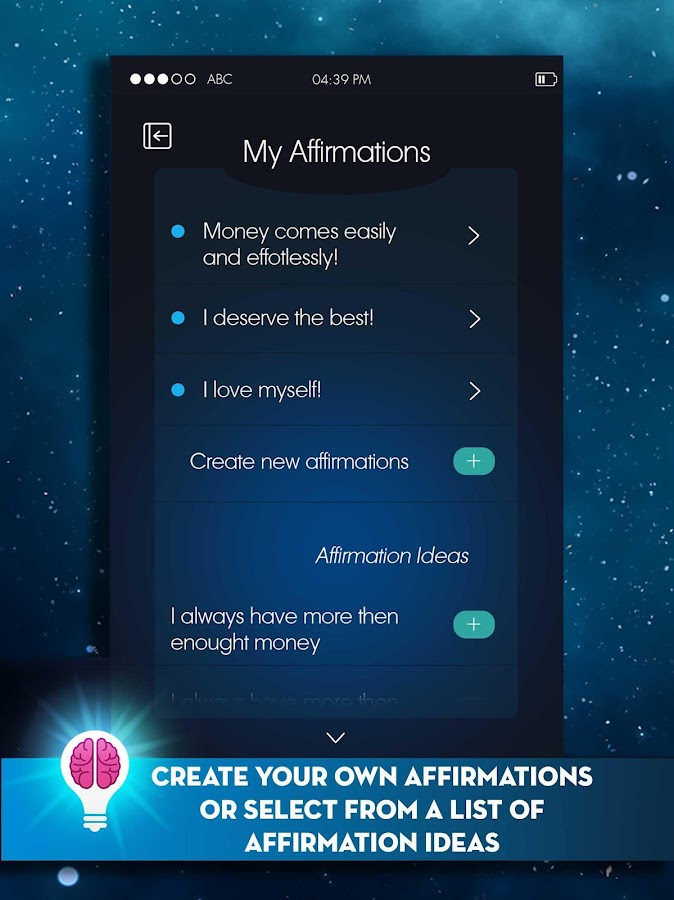 Affirmation Reminder- screenshot