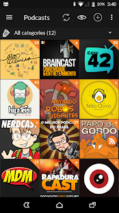 Podcast & Radio Addict: miniatura da captura de tela