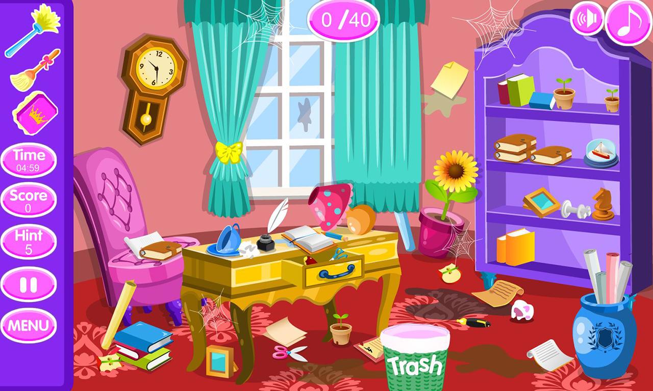 Princess room cleanup android apps on google play - Como limpiar una habitacion ...