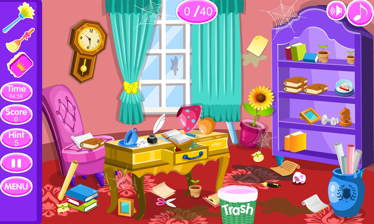 Princess room cleanup android apps on google play for Cuarto desordenado